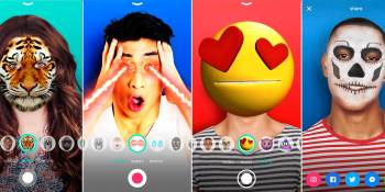 AOL's Switch is a selfie-taking photo and video app with Snapchat-like filters
