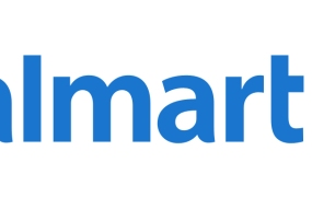 This is an image of the Walmart logo. Walmart is counting on recent technology investments to reverse five quarters of declining online sales growth.