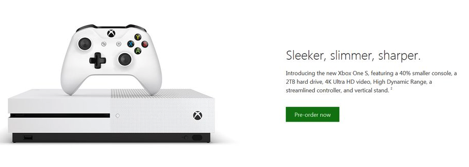 Xbox One slim from Microsoft's Xbox Store.