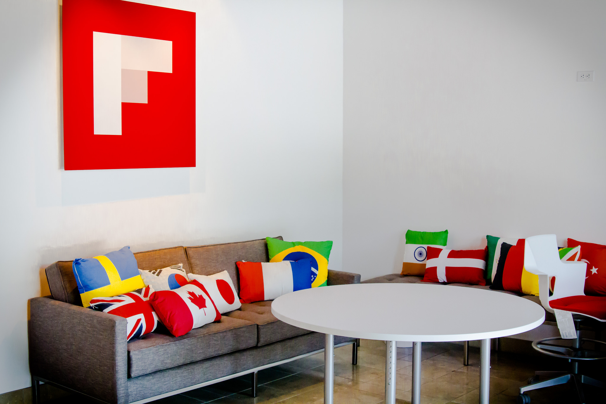 Inside Flipboard's Palo Alto, Calif. office is a space dedicated to the international users of its social content curation app.