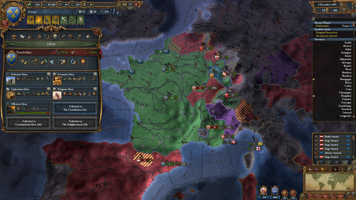 The French are plotting something ... .