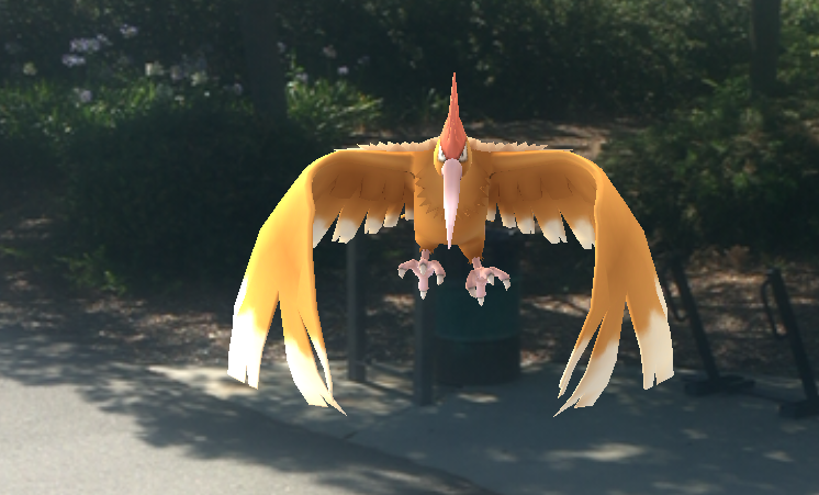 Flying Pokemon can be harder to catch. Aim those PokeBalls carefully!
