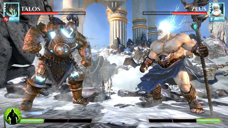 Gods of Rome is a competent swipe-to-fight brawler with an appropriately superhuman-looking cast.