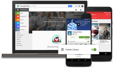 Google Play's new Family Library lets up to 6 people share