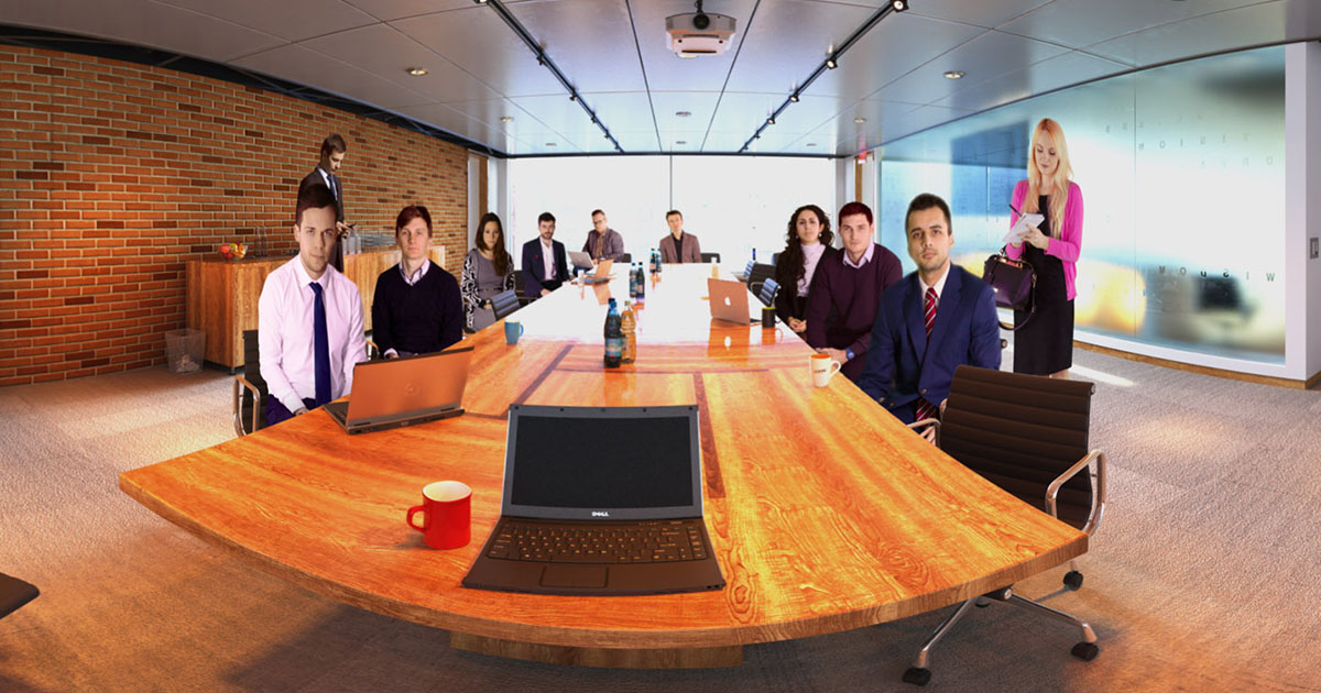 360 video boardroom by VirtualSpeech