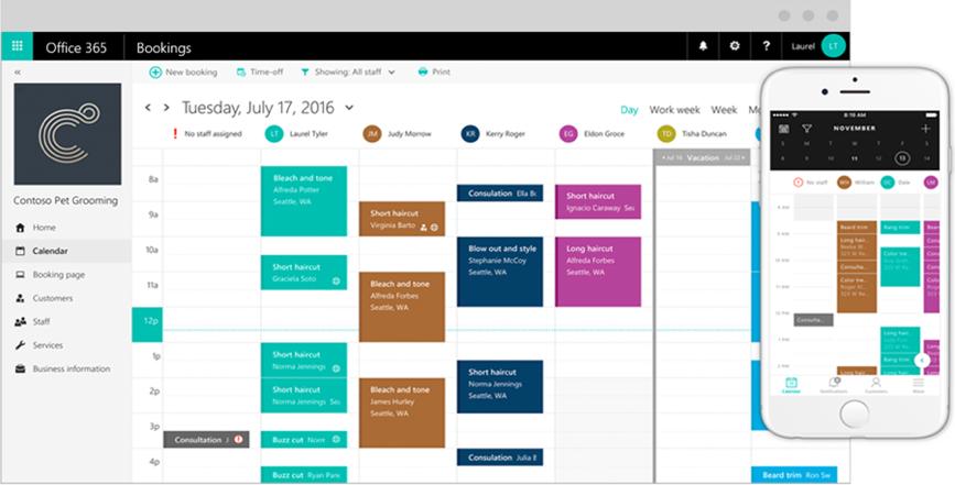 Microsoft Bookings screenshot 2