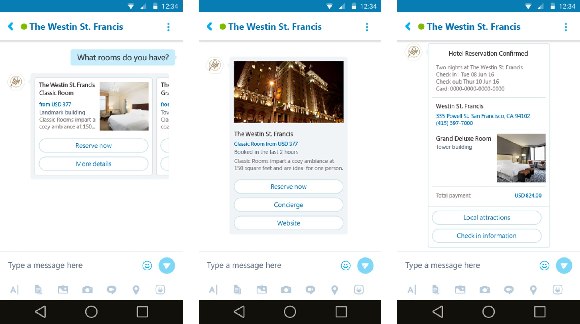 New kind of cards in which chatbots can deliver messages in Skype.
