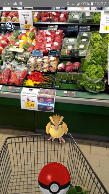 Pokemon Go grocery store