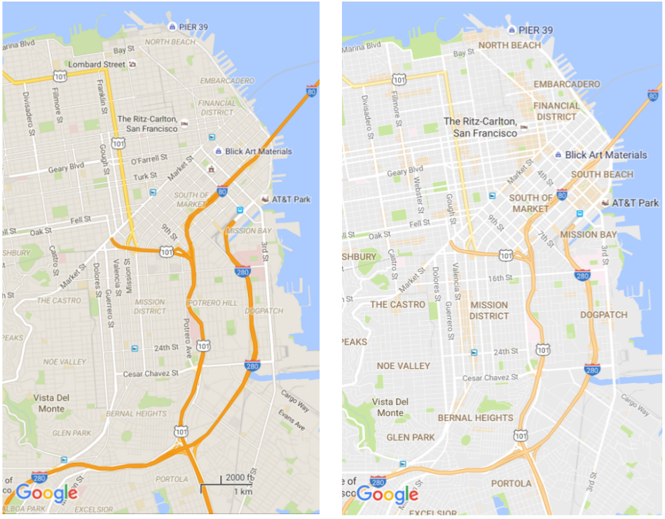 Google Maps now has a cleaner look.