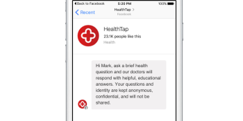 HealthTap launches Facebook Messenger bot that provides fast access to health care