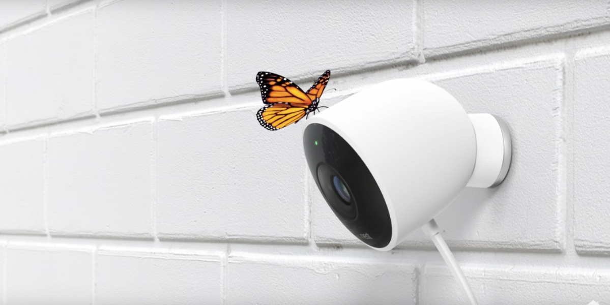 Nest Cam Outdoor is a security camera that works outdoors and is weatherproof.