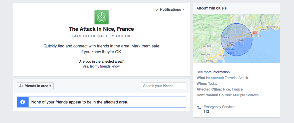Facebook activates Safety Check after truck incident in ...