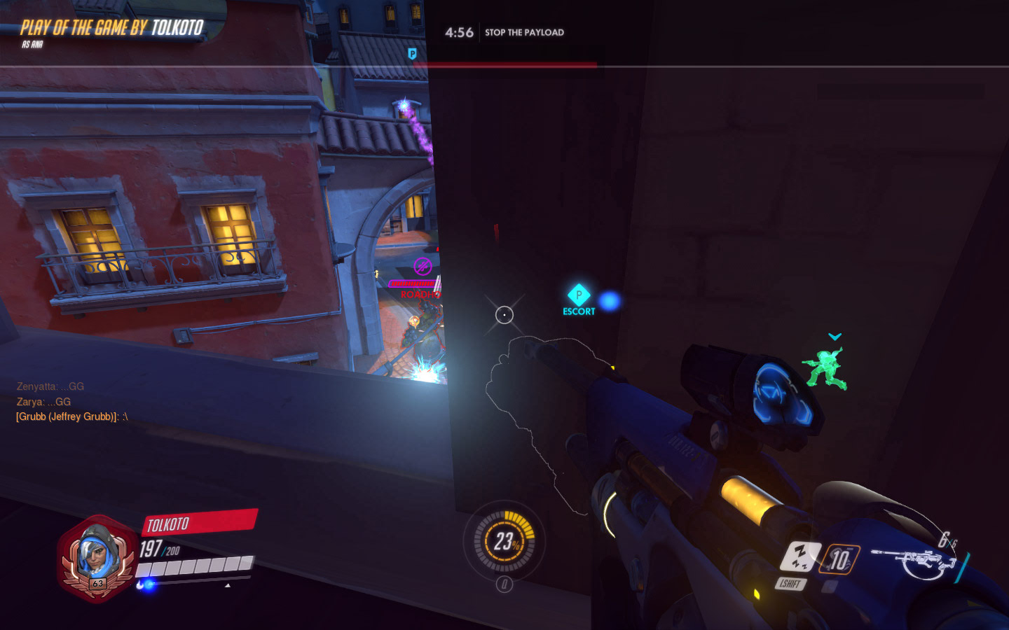 Ana can be vulnerable, so sometimes you need to hide.