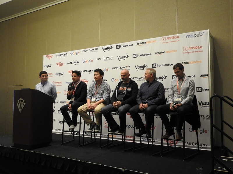 Panel from left to right: Dean Takahashi, lead writer for GamesBeat at VentureBeat; Sean Lee, Chief Strategy Officer, Wargaming; Vlad Ceraldi, Director of Development, Hothead Games; Chris Early, VP of Digital Publishing, Ubisoft; Chris Olson, Former COO, SEGA Networks.