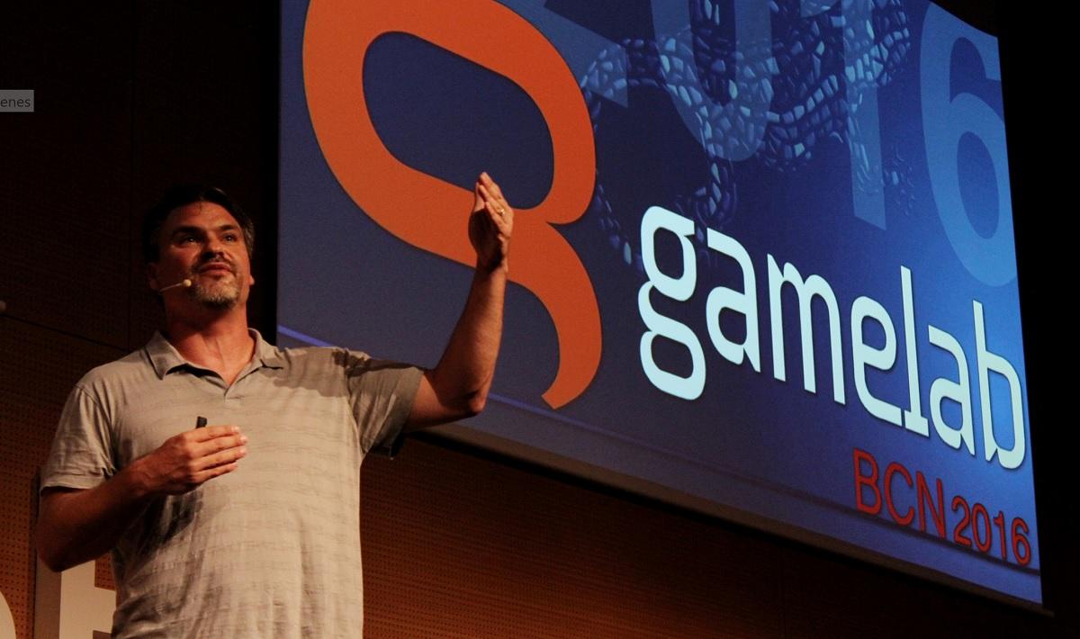Dan Connors, cofounder of Telltale Games, at Gamelab 2016.