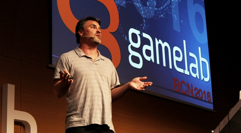 Dan Connors gives a talk at Gamelab 2016 in Barcelona.