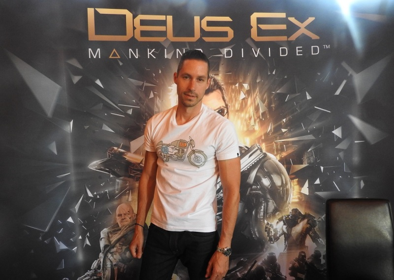 Olivier Proulx, producer of Deus Ex: Mankind Divided at Eidos Montreal.