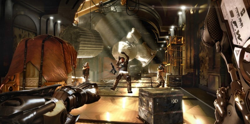 Augmentations help Adam Jensen engage in combat more easily in Deux Ex: Mankind Divided.