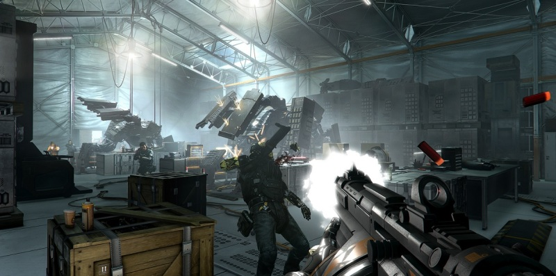 Deus Ex: Mankind Divided has more action moments.