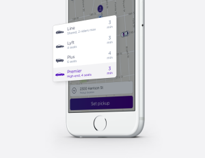 How to access Lyft Premier from within the Lyft app.
