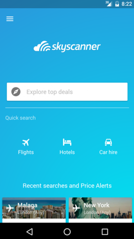 Skyscanner: All-in-one