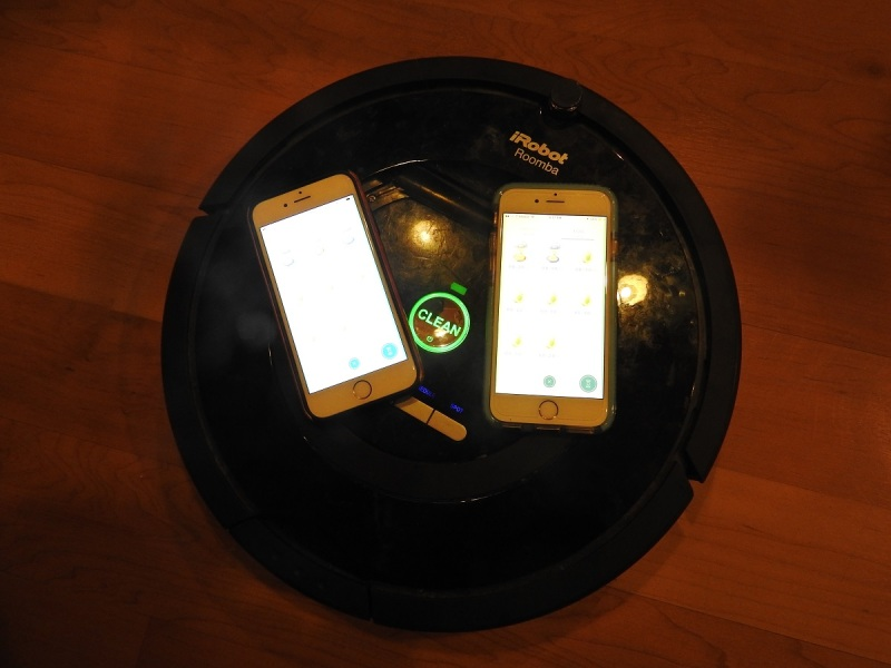 Cheating at Pokemon Go by using a Roomba.