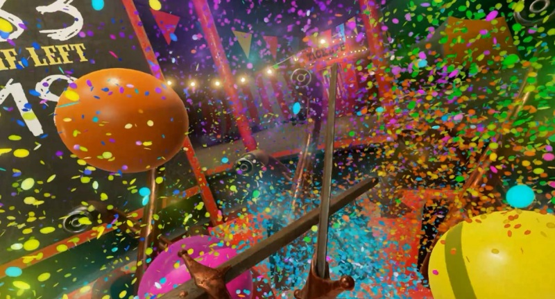The Balloon Knight game can render a huge amount of confetti.