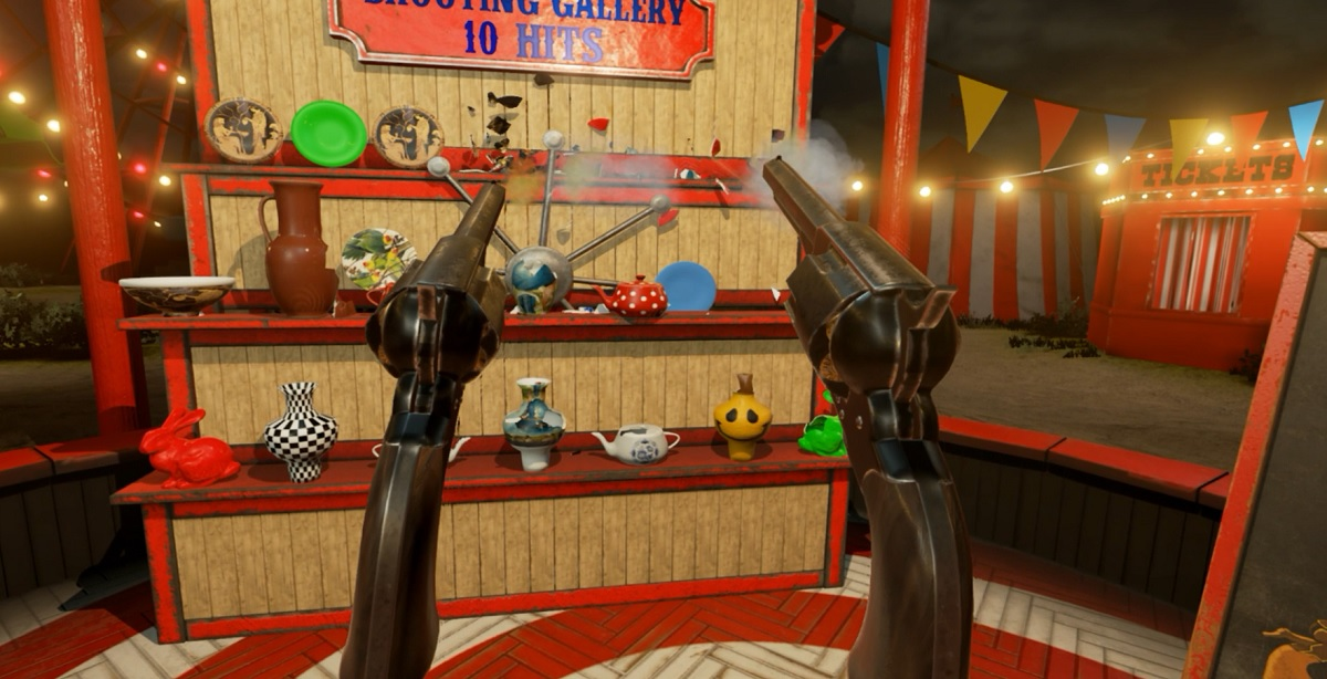 Shooting Gallery in VR Funhouse is very accurate.