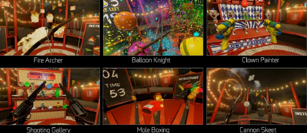 VR Funhouse is a series of mini games for the HTC Vive virtual reality headset.