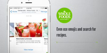 Whole Foods just launched a Messenger chatbot for finding recipes with emojis