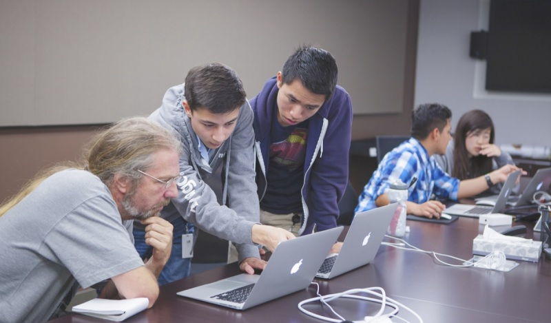 Students in Zynga's game design academy.