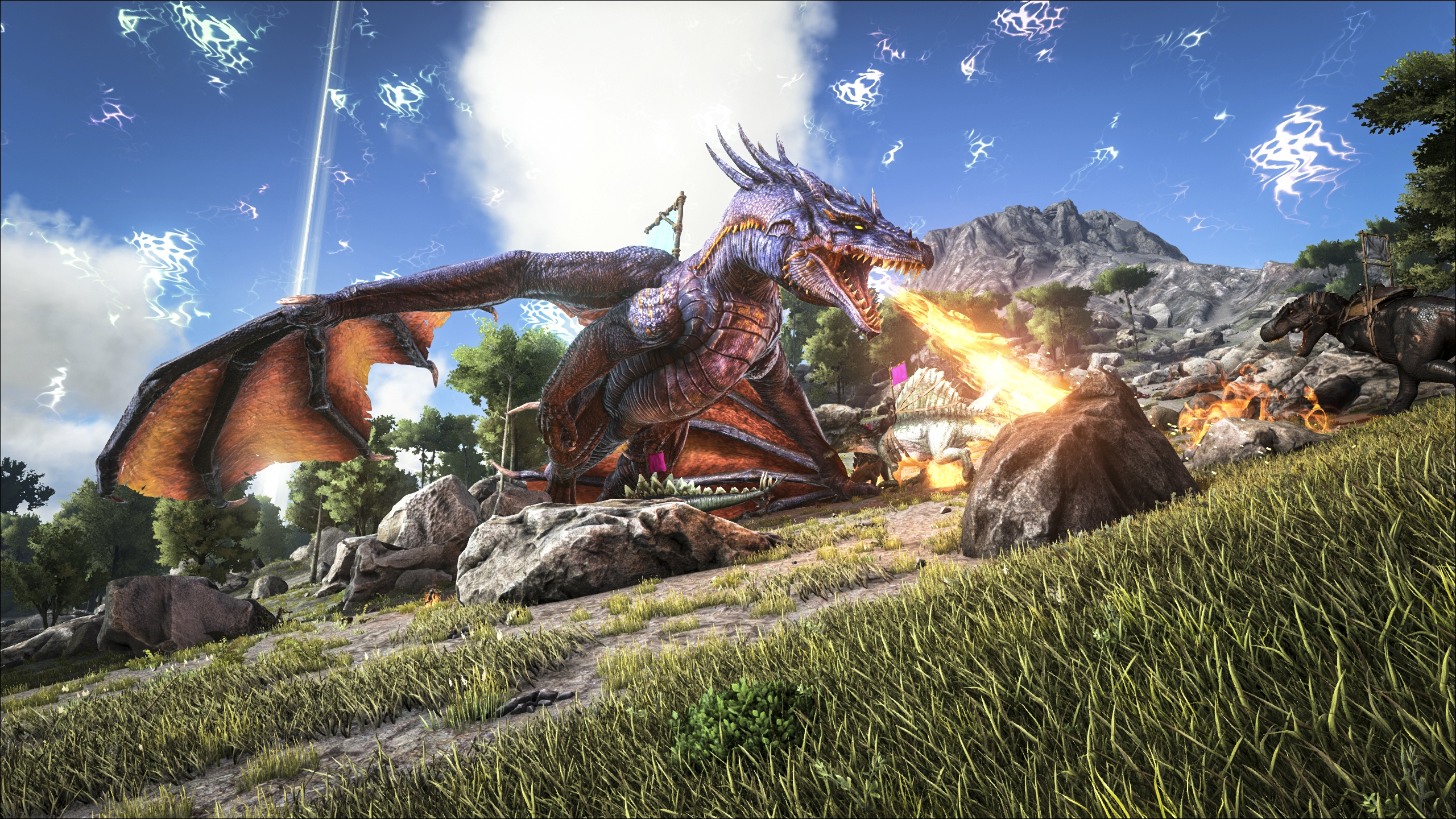 Ark isn't afraid to throw some seriously scary dinosaurs at players.
