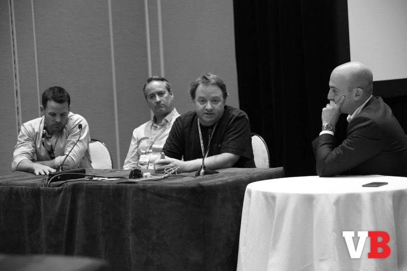 Walter Driver, Mark Stanley, and David Jaffe with moderator Ophir Lupu.