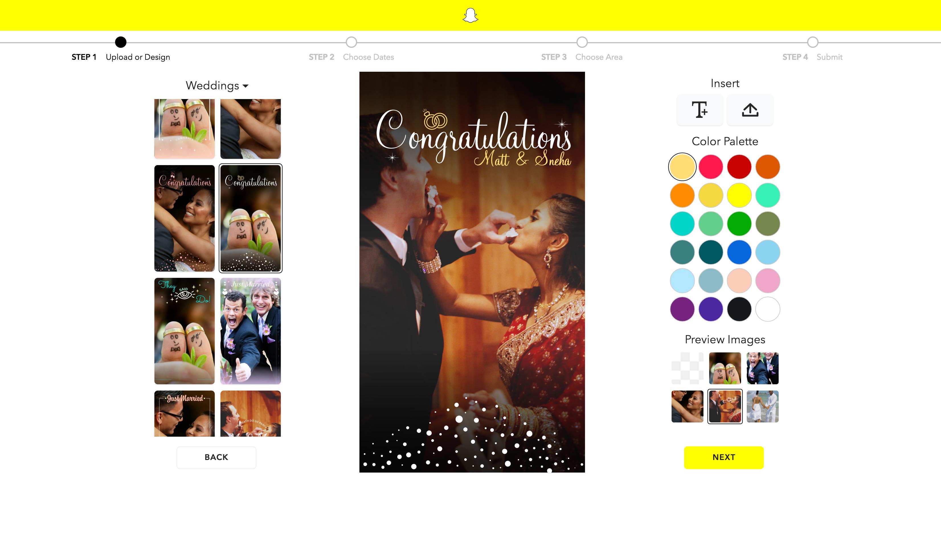 Snapchat geofilter template designer