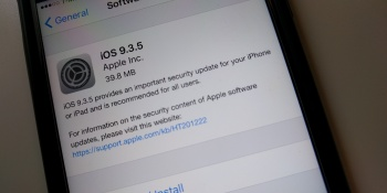 Apple releases iOS 9.3.5 to patch security flaws following targeted attacks