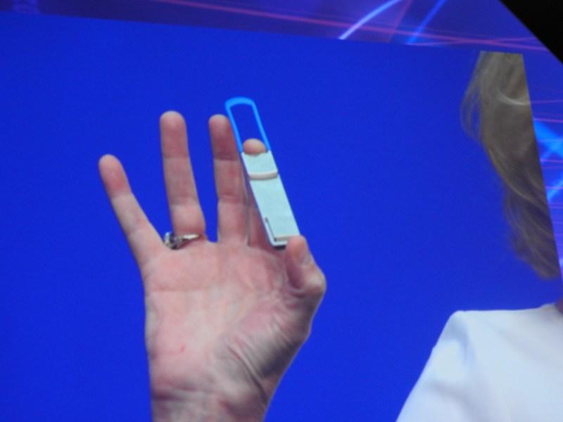 Intel's silicon photonics module.