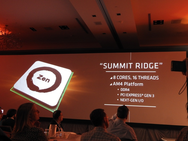 Summit Ridge is the first instance of AMD's Zen series chips.