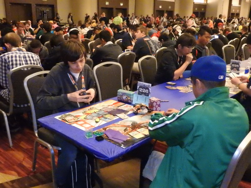 Card game players at the Pokémon World Championships.