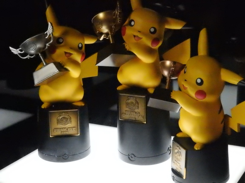 Trophies at the Pokémon World Championships.