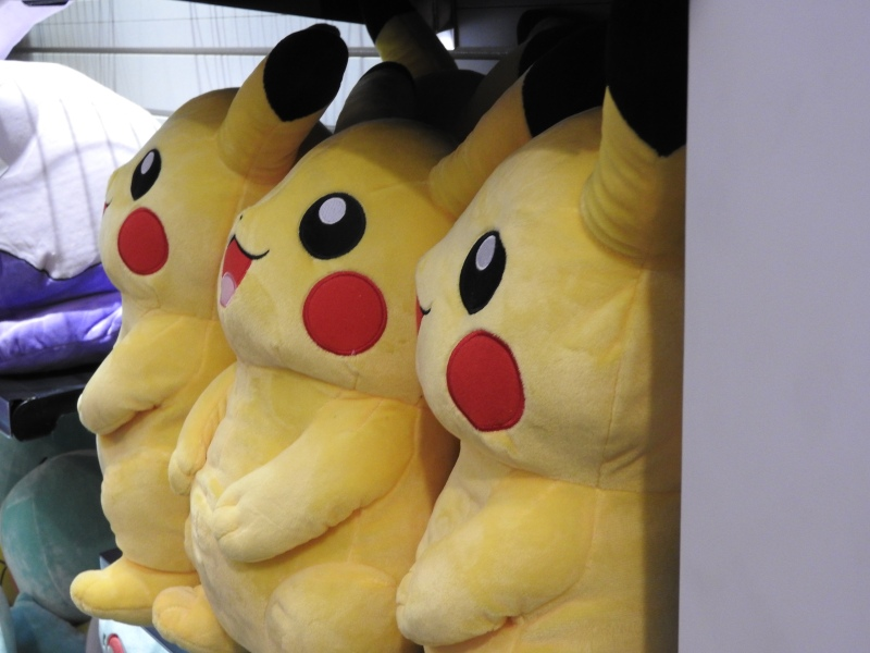 More Pikachu plush toys for sale at the Pokémon World Championships.