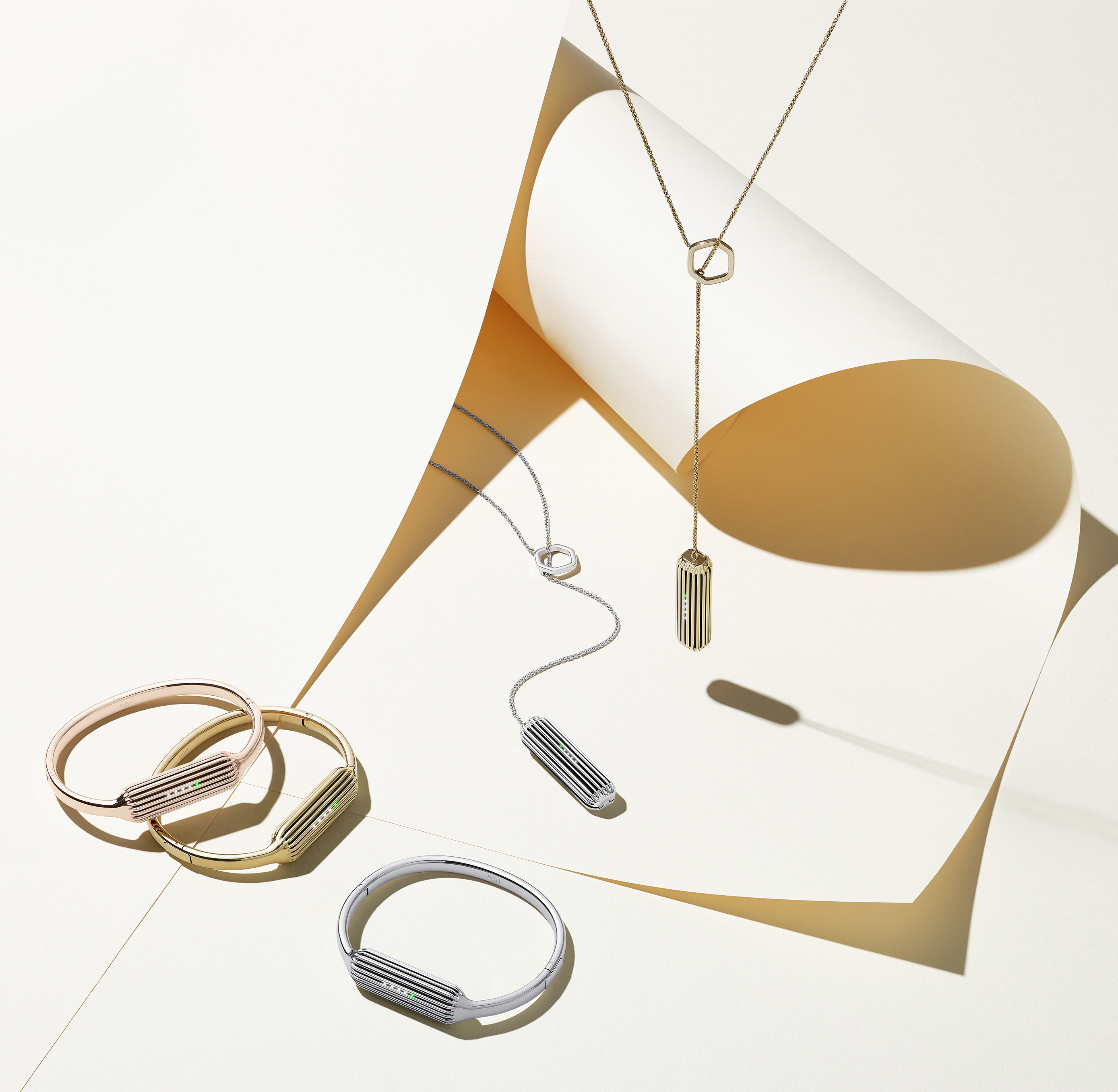 Fitbit Flex 2 accessory bangles and necklaces, not immediately available.