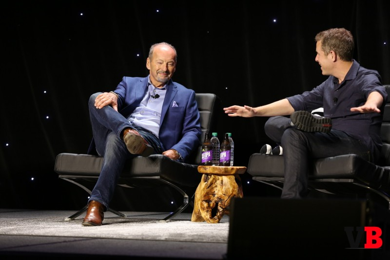 Peter Moore and Geoff Keighley at GamesBeat 2016.