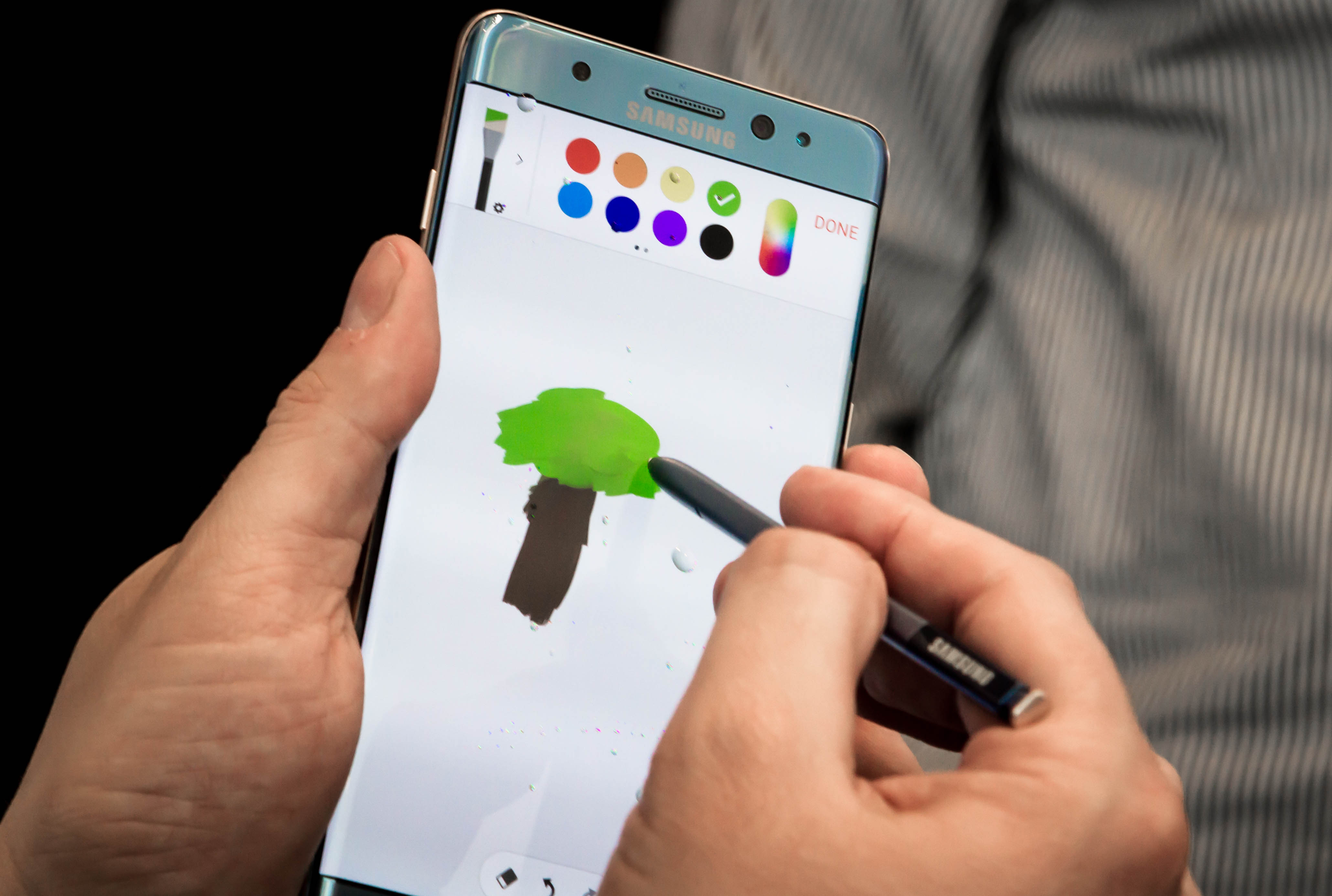Drawing on the Samsung Galaxy Note7