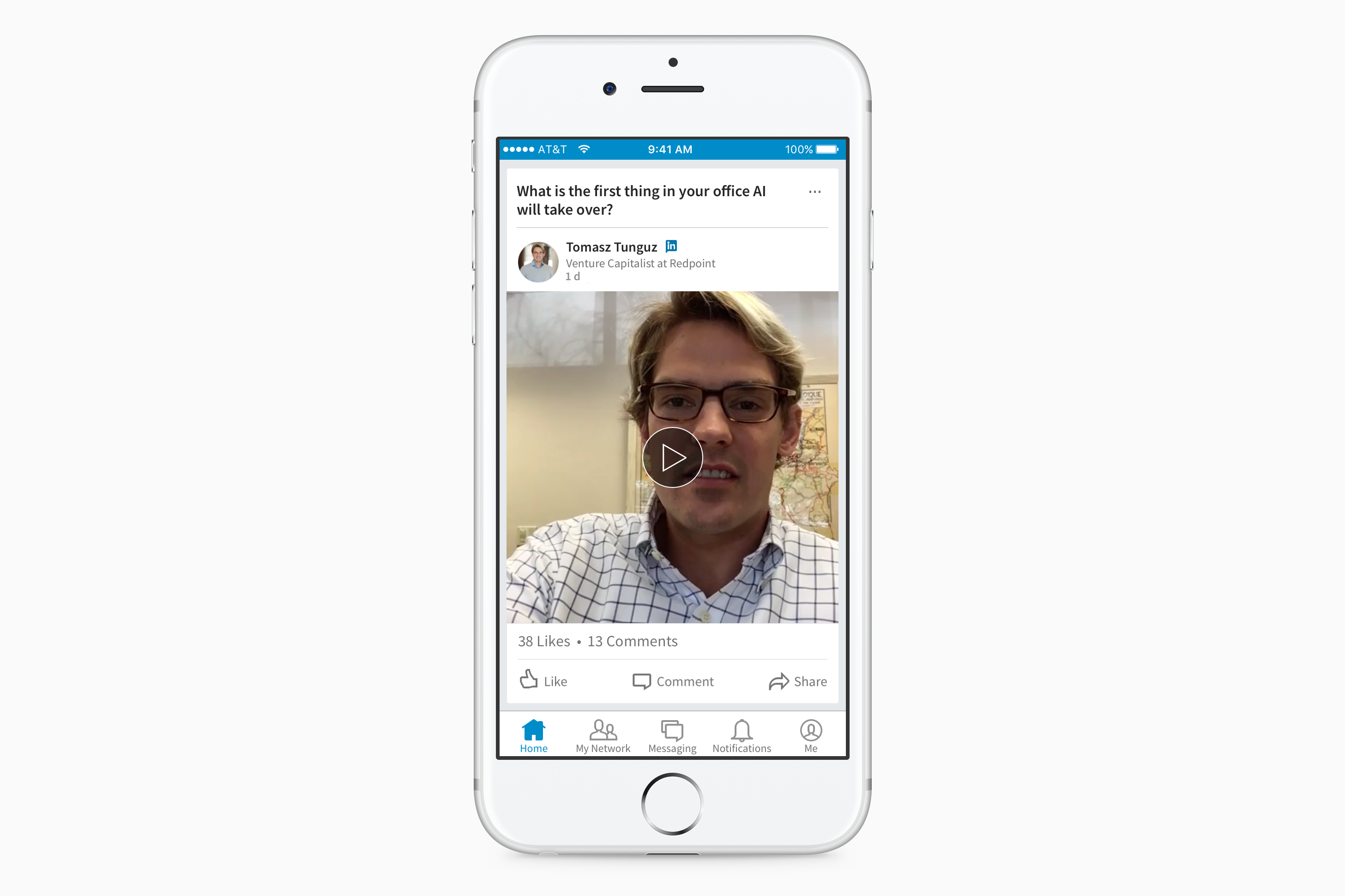 LinkedIn Record mobile app