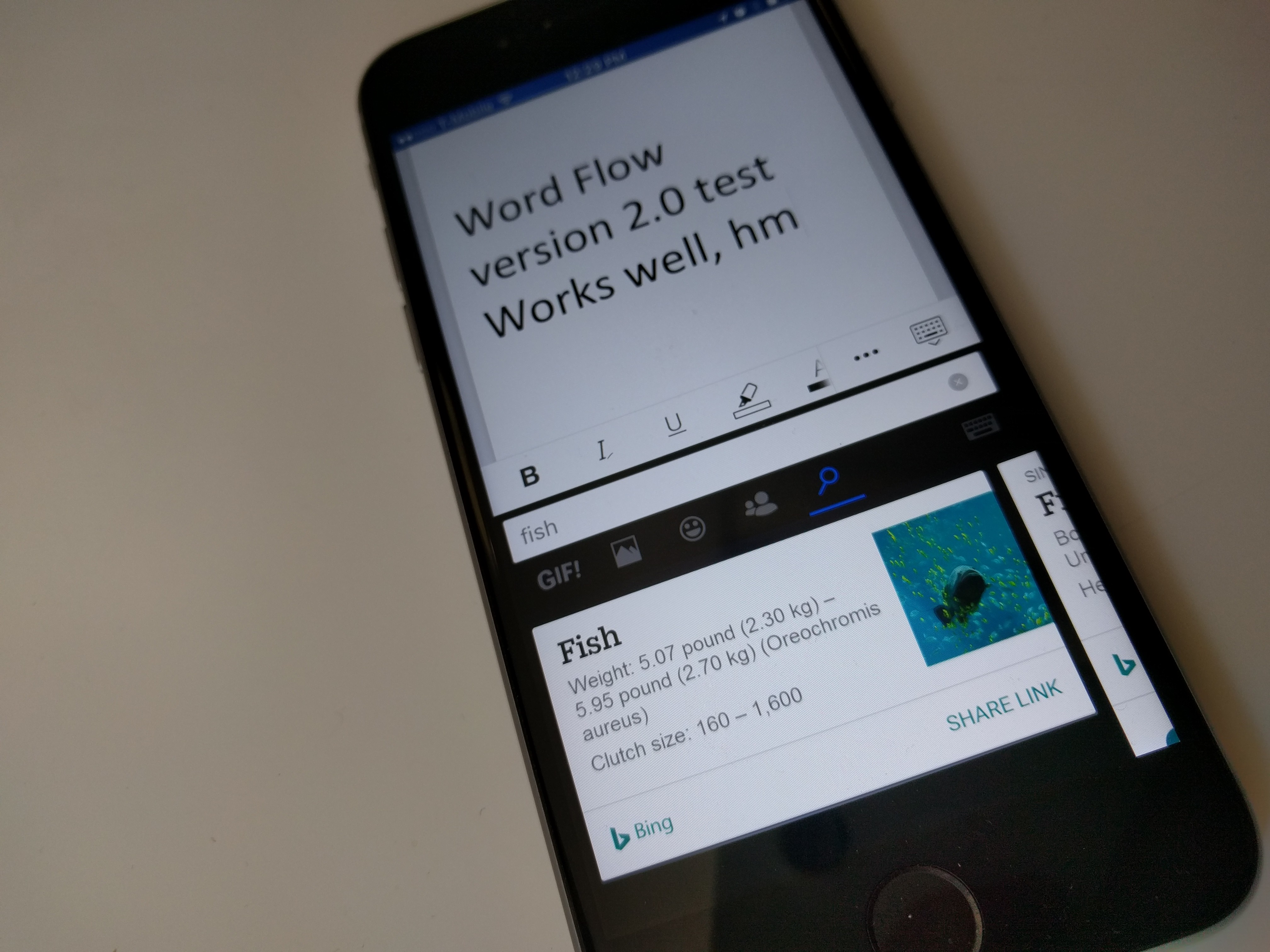Microsoft updates Word Flow keyboard for iOS with built-in search ...