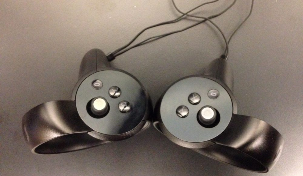 The Oculus Touch.
