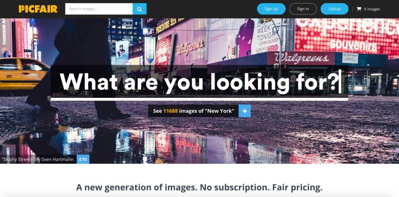 The new Picfair