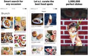 Screenshots of Borsch, a neural-network based food app built by Russian programmers.