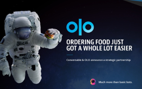 This image shows an astronaut to illustrate Olo and Conversable partner to bring conversational commerce to the restaurant Industry.