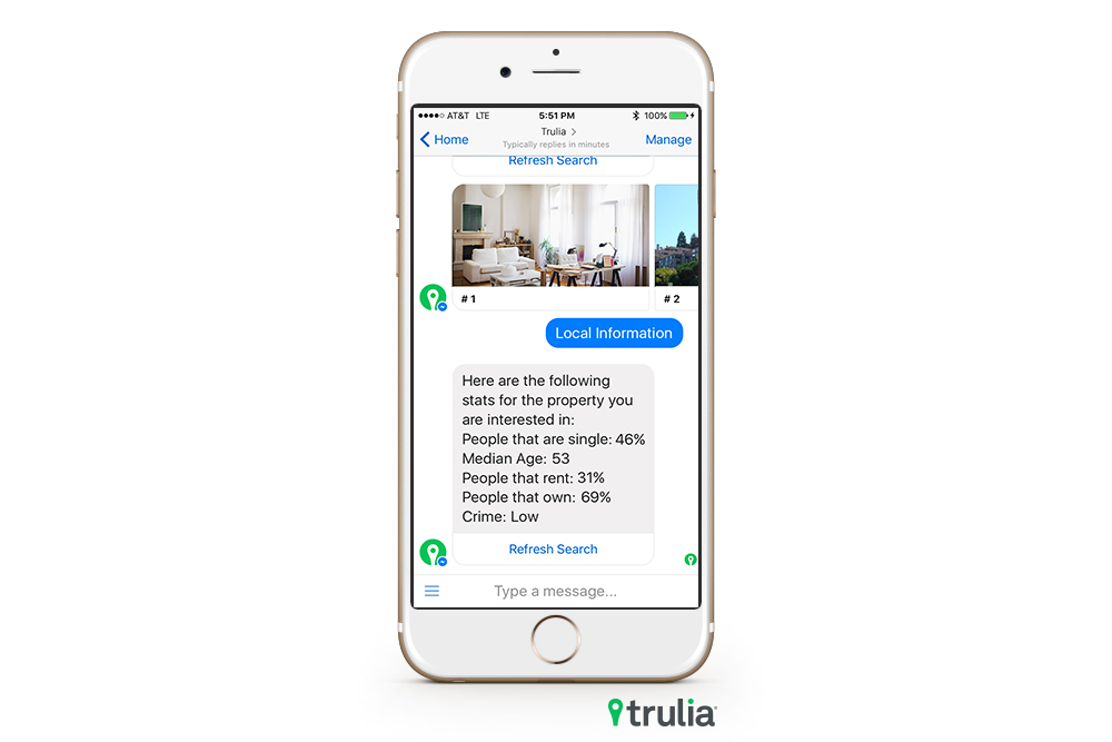 Trulia bot Local Info